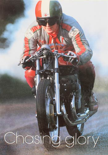 Mark Kay on a Gilera 500 GP