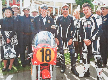 The Black Eagle Racing team ot Goodwood 2015