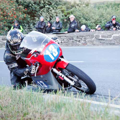 Lee Johnston at the IOM Classic TT