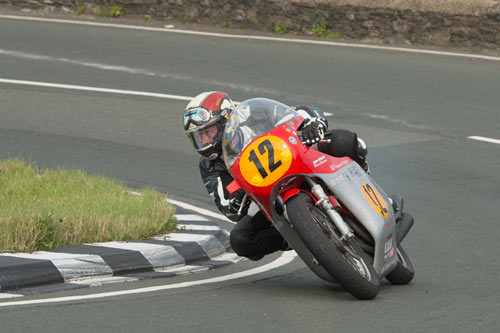 Dean Harrison competes in the 2015 Classic TT 500cc