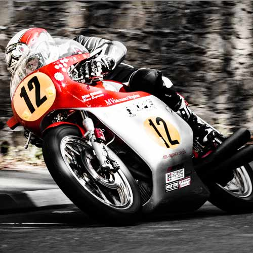 Dean Harrison leads in the 2015 Classic TT 500