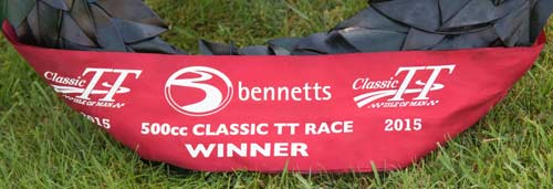 For the winner of the 2015 Classic TT 500