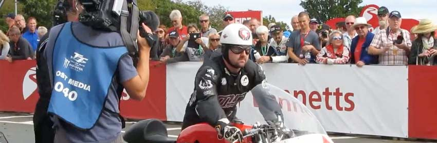 Video link to the Michael Dunlop 100mph lap tribute