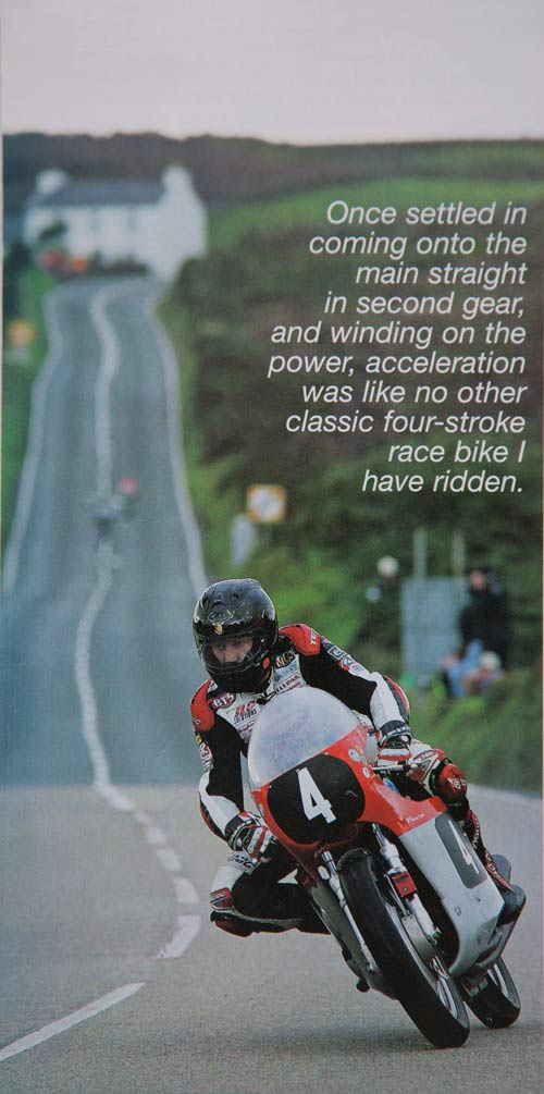 Gary Johnson on the Kay MV three at the Isle of Man