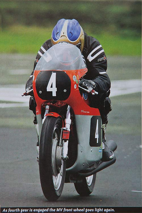 Malcolm Wheeler rides the Kay MV three for Classic Racer